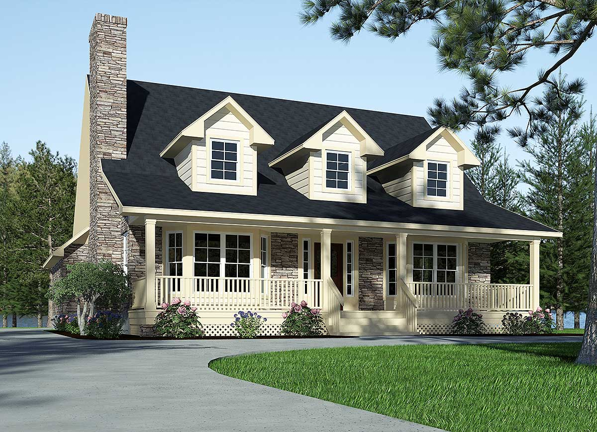 Country Home Designs: Refined Country Home Plan - 3087D