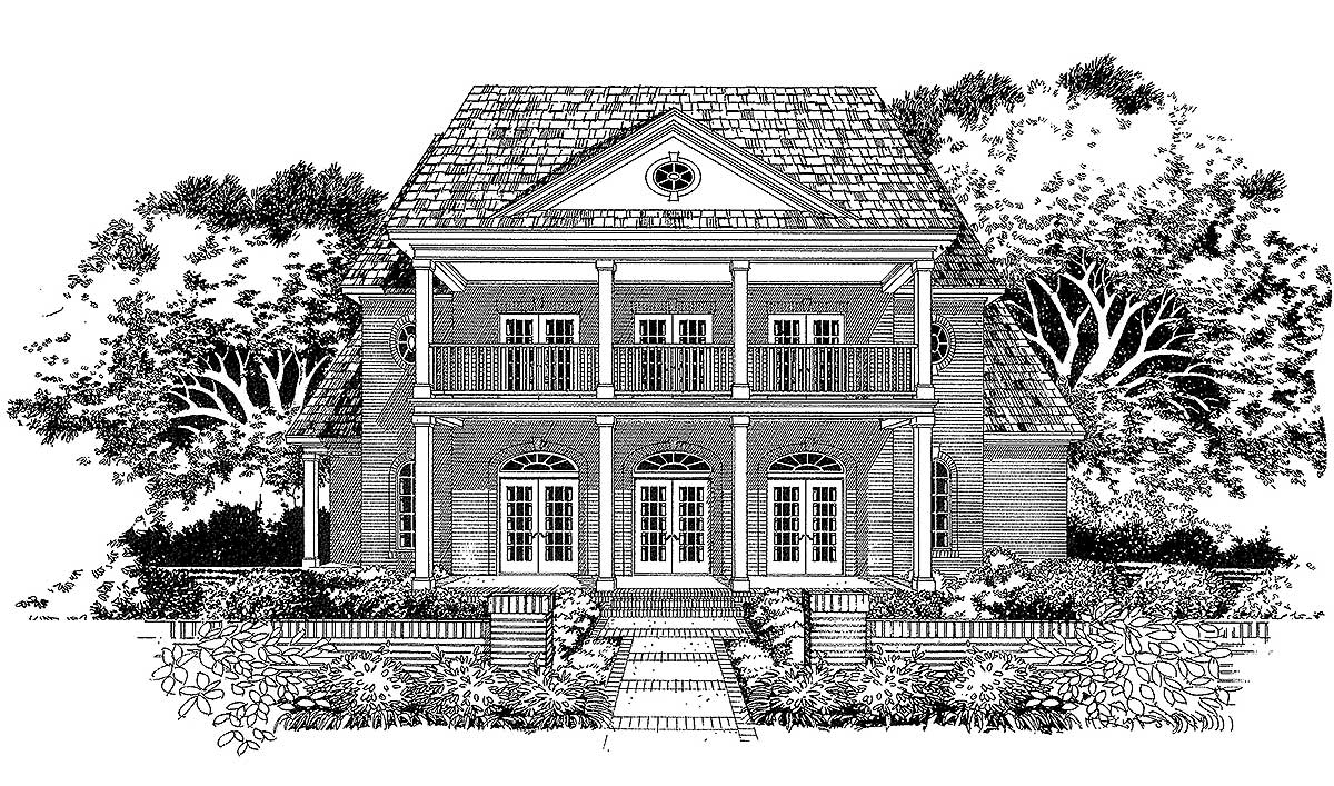 Graceful living 31045d 1st floor master suite butler for Plantation home designs