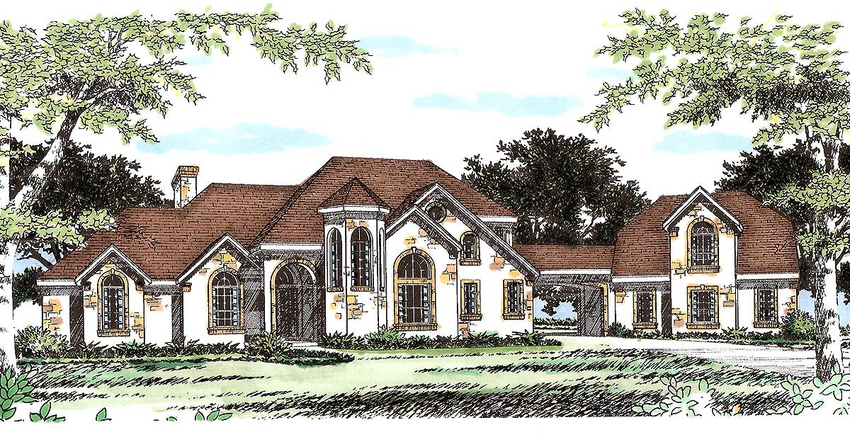 Extravagant Hill Country House Plan 31112d 1st Floor