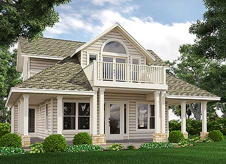 house plans with balcony loft with balcony 31118d cottage country narrow lot 18537