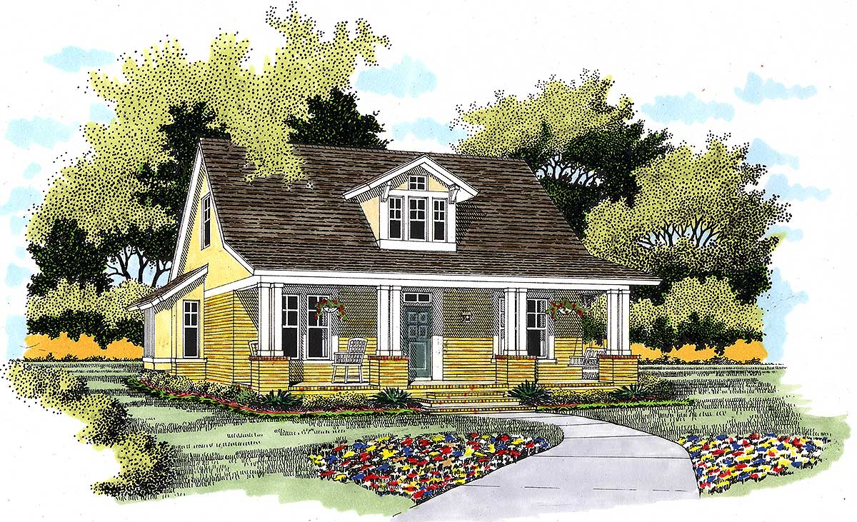 Charming cottage in two versions 31126d 1st floor for Charming house plans