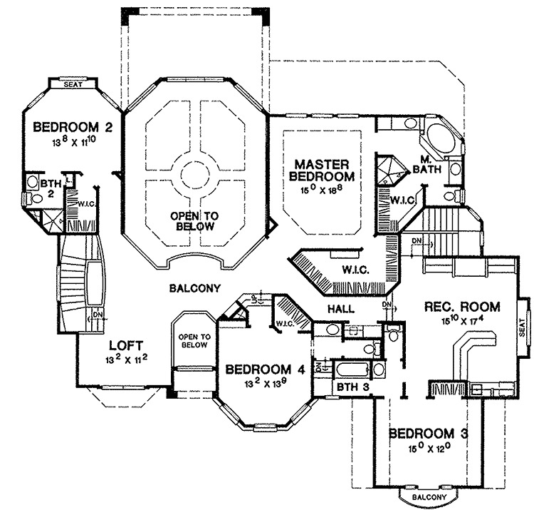 Hill Country House Plan With Two Story Family Room