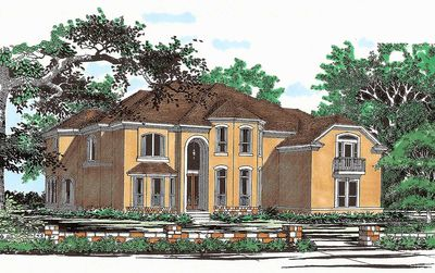 Hill Country House Plan with Two-Story Family Room - 31165D thumb - 02