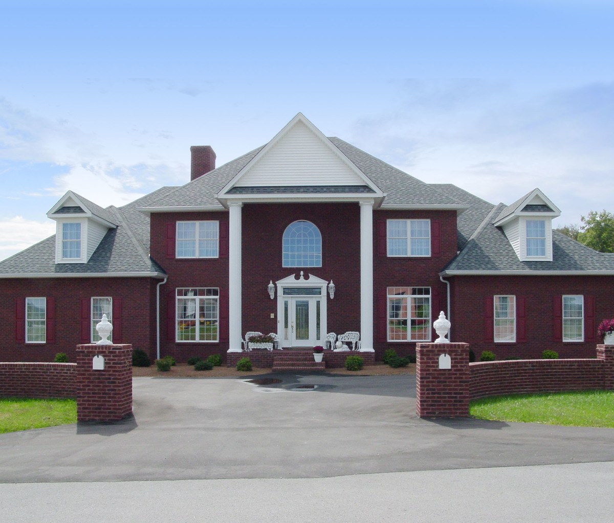 Impressive southern colonial 3118d architectural for Southern colonial house plans