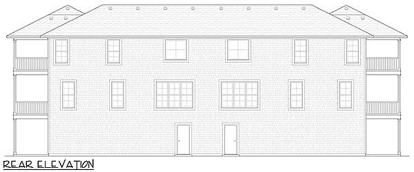 Coastal duplex with porches 31501gf 2nd floor master for Coastal duplex house plans