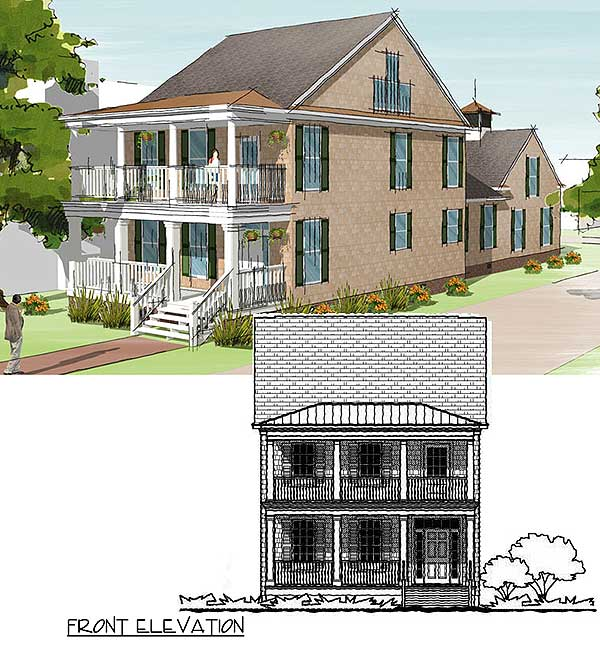 3 story shingled beach house plan 31508gf 2nd floor for Three story house plans narrow lot