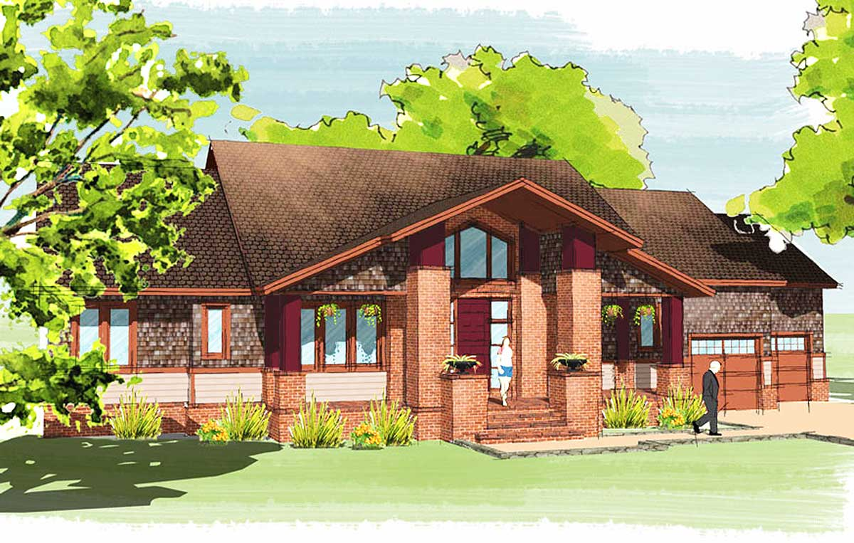 Suburban craftsman house plan 31509gf architectural for Suburban house plans