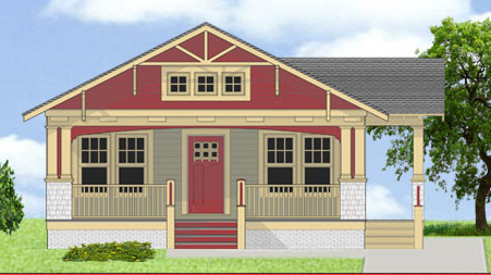3 bed arts crafts house plan 31519gf architectural for Arts and crafts bed plans