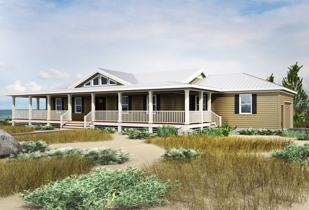 3 bed coastal dune ranch home plan 31524gf