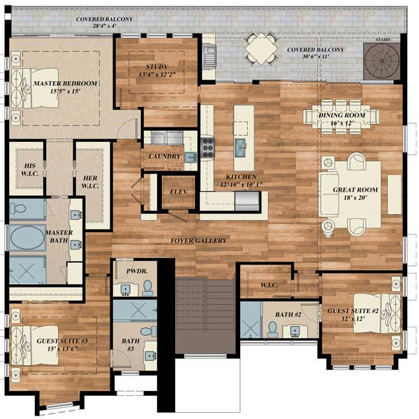 Exciting contemporary house plan 31834dn 1st floor for Modern house design plans pdf