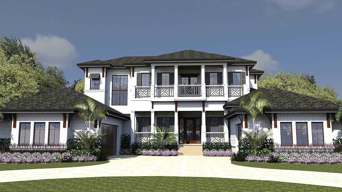 High end florida house plan 31838dn architectural for South florida house plans