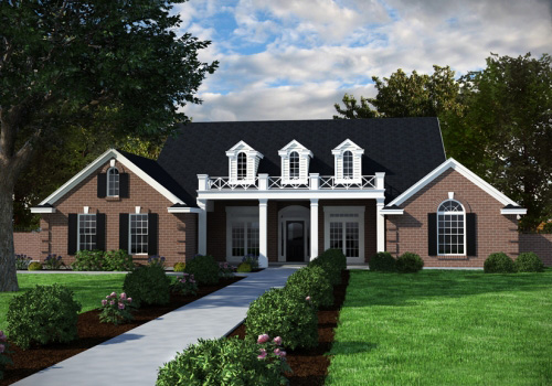 Symmetrical facade 3199d architectural designs house for Symmetrical house plans