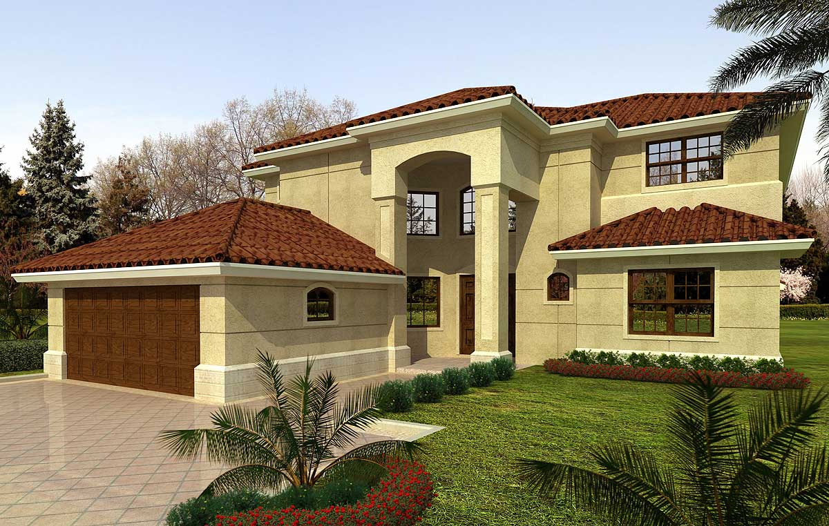 Architectural designs for Florida house plans with lanai
