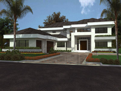 Contemporary Florida Style Home Plan - 32051AA thumb - 01