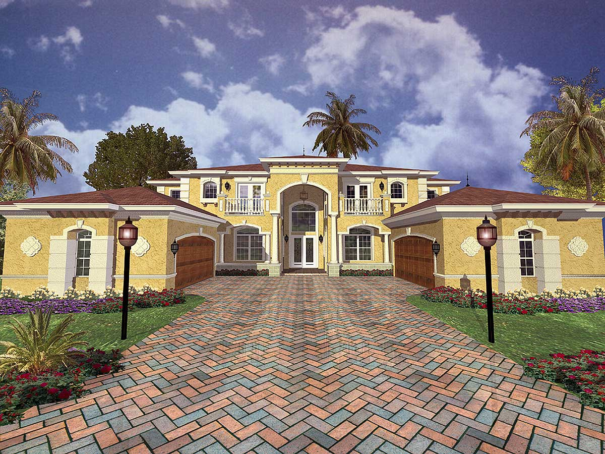 Luxury comes in two sizes 32057aa 1st floor master for Luxury mansion plans