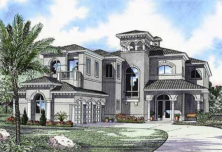 Beautiful Mediterranean Luxury House Plans Ideas - 3D house ...