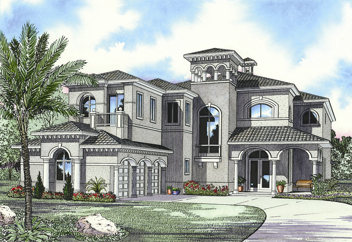 Architectural designs for Luxury mediterranean home plans
