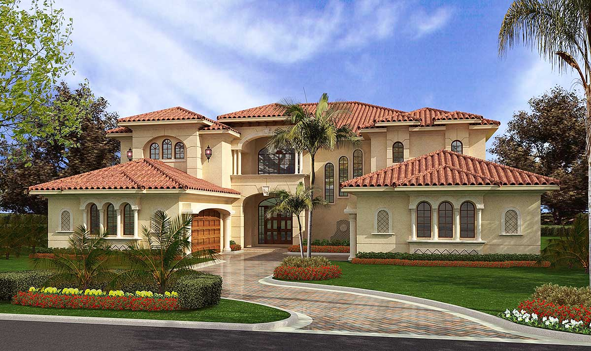 Luxury mediterranean style 32065aa architectural for Mediterranean style modular homes