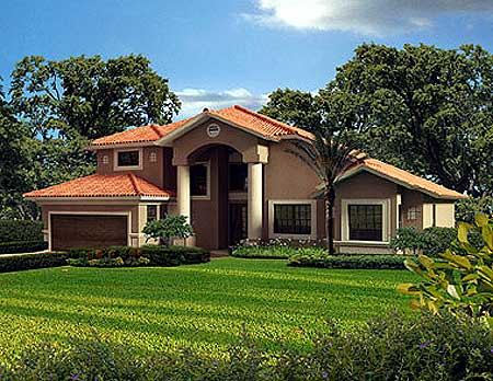 Two Story Classic  Florida Style   AA   st Floor Master    Plan AA ArchitecturalDesigns com