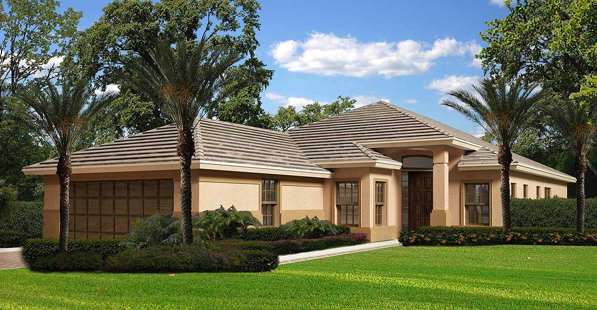 Classic mediterranean home plan 32171aa 1st floor for Classic mediterranean house