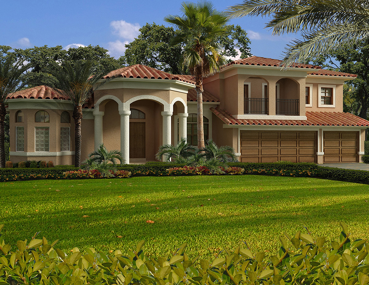 Luxury mediterranean house plan 32198aa architectural for Mediterranean house numbers