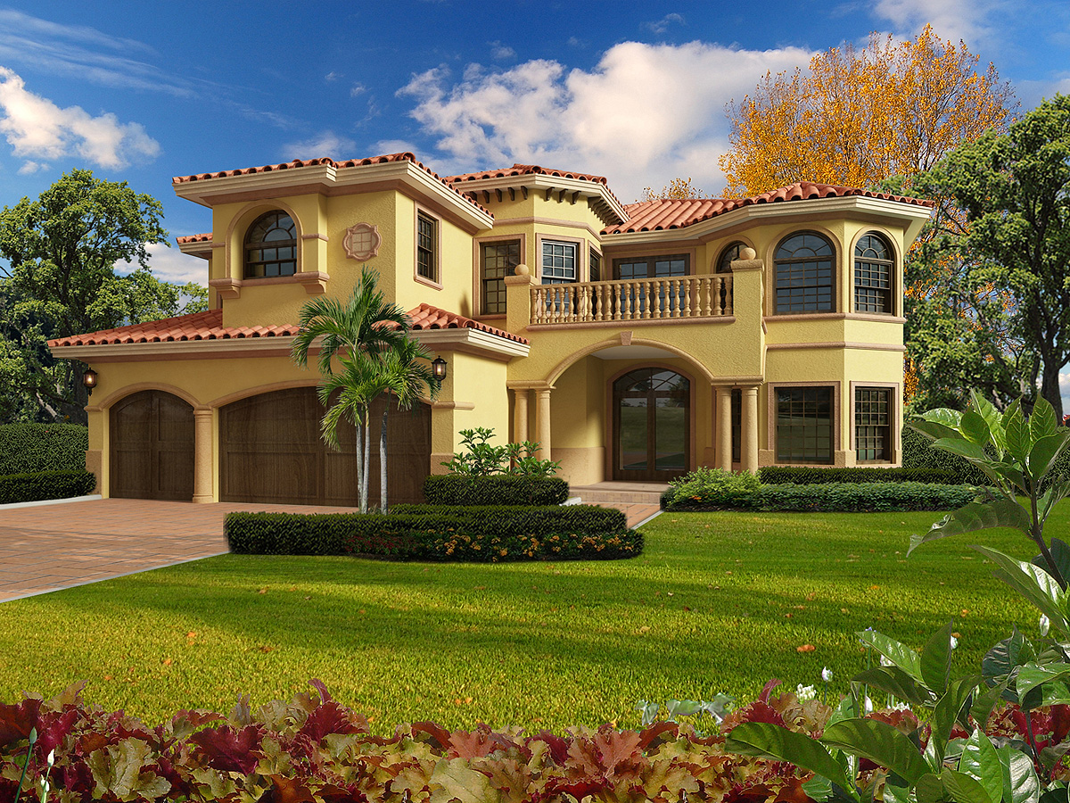 Architectural Home Plans Luxury: Mediterranean Luxury - 32200AA