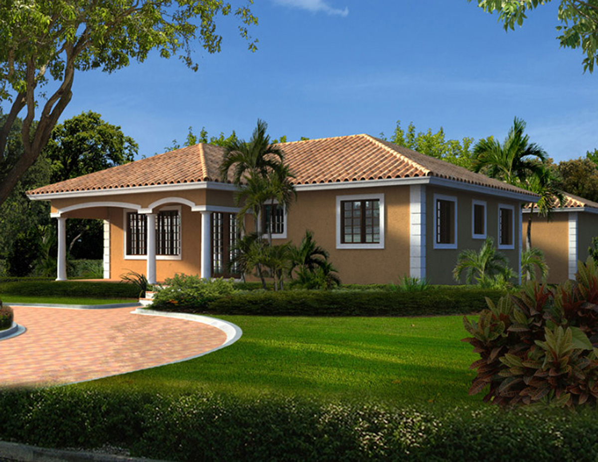6 bedroom u shaped house plan 32221aa architectural for U shaped home designs
