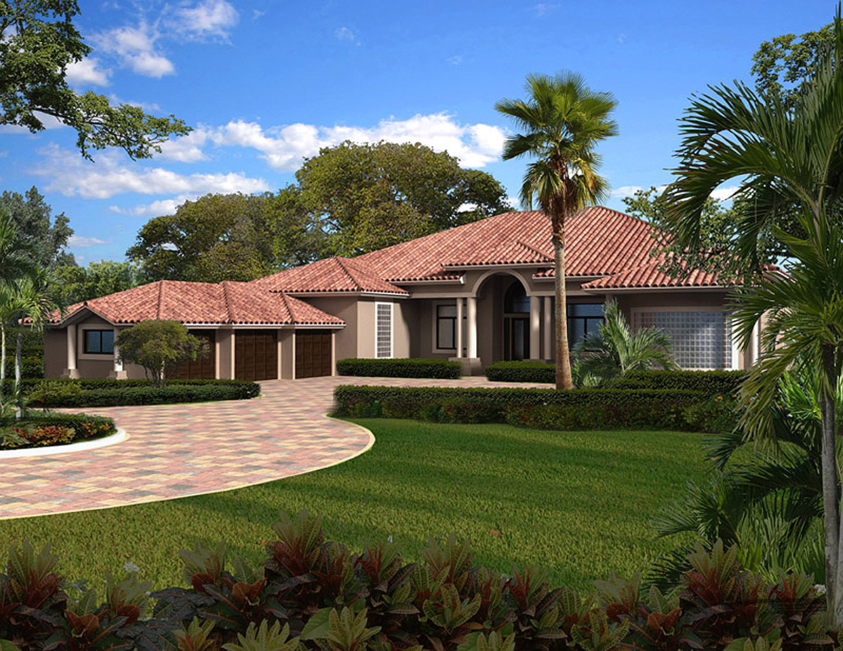 Five or six bedroom florida home 32223aa 1st floor for 6 bedroom house plans luxury