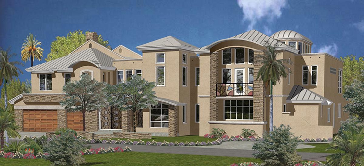 Mega mansion florida style 32233aa florida luxury for Mega mansion house plans