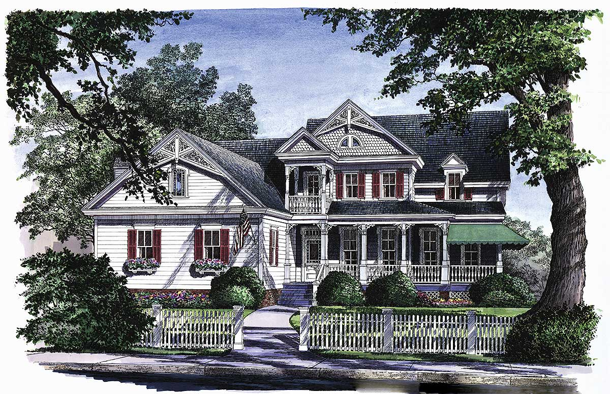 Stately Country Home Plan 32430wp 1st Floor Master