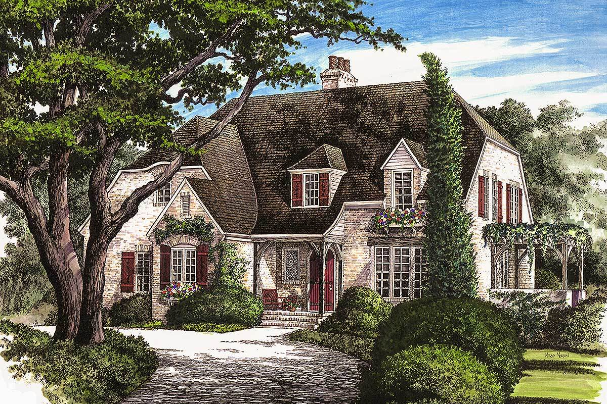 Elegant french country home 32431wp architectural for Elegant country homes