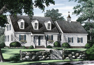 Cape Cod with Open Floor Plan - 32435WP | Architectural Designs ...