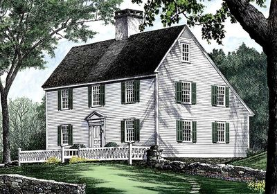 Saltbox Style Historical House Plan - 32439WP | Architectural ...