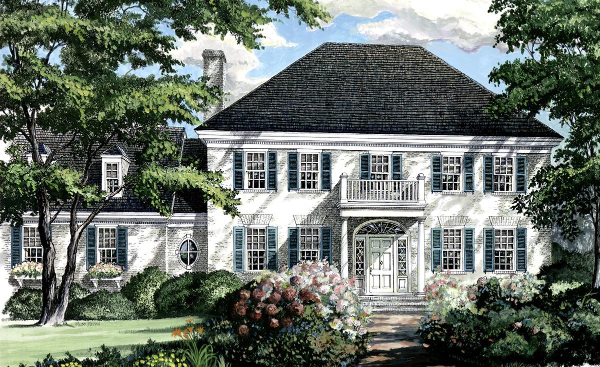 Southern colonial home plan 32444wp 2nd floor master for Southern colonial house plans