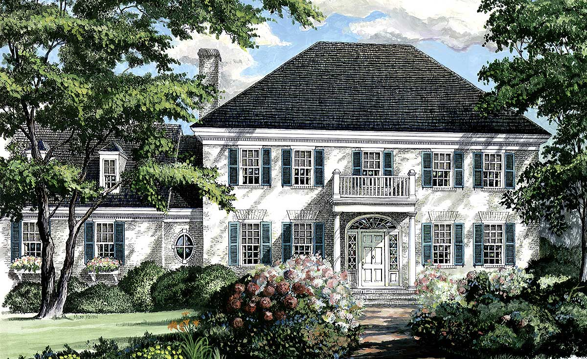Southern Colonial Home Plan - 32444WP | Architectural ...