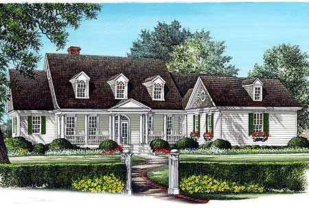 Spacious cape cod home plan 32453wp cape cod country for Cape cod house plans with first floor master bedroom