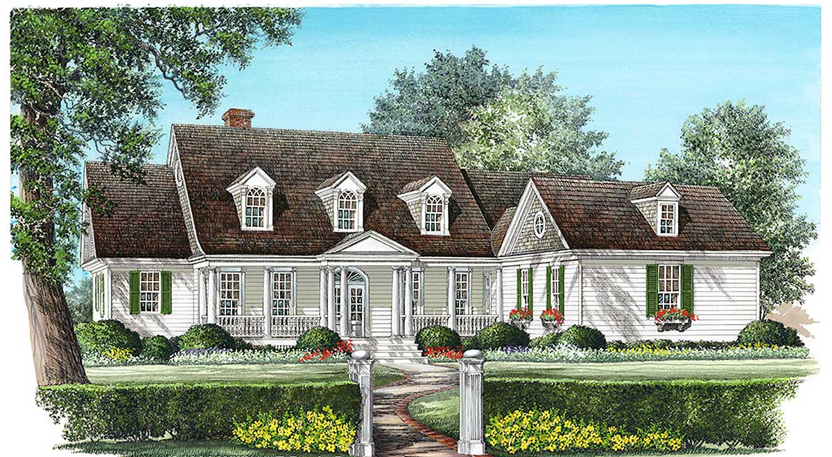 Spacious Cape Cod Home Plan 32453wp 1st Floor Master