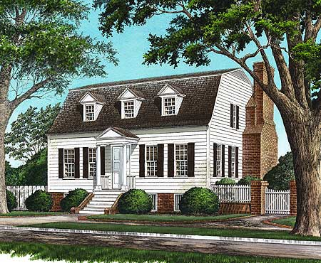 Gambrel With Secluded Master Suite 32457wp 1st Floor