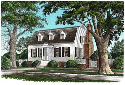 Gambrel With Secluded Master Suite - 32457WP thumb - 01