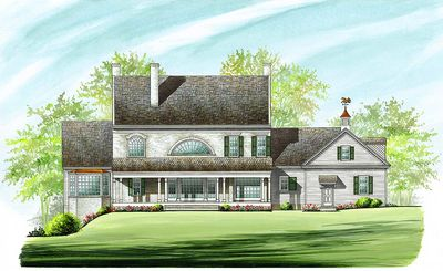 Colonial Home Plan with 2 Master Suites - 32463WP thumb - 07