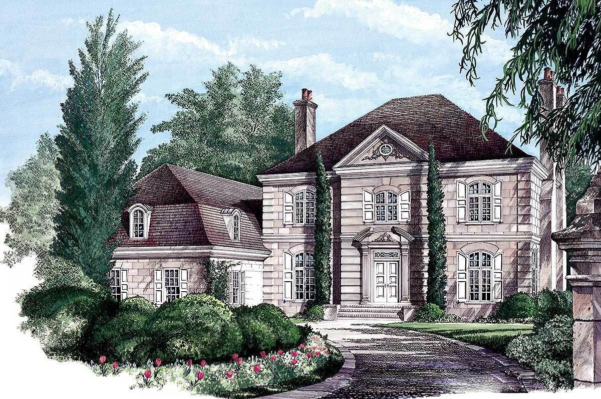 Stately european home plan 32473wp architectural for Europeanhome com
