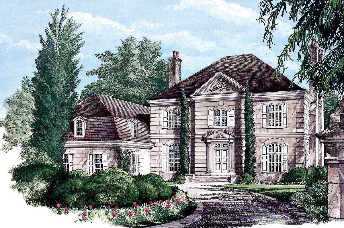 Stately European Home Plan 32473wp Architectural