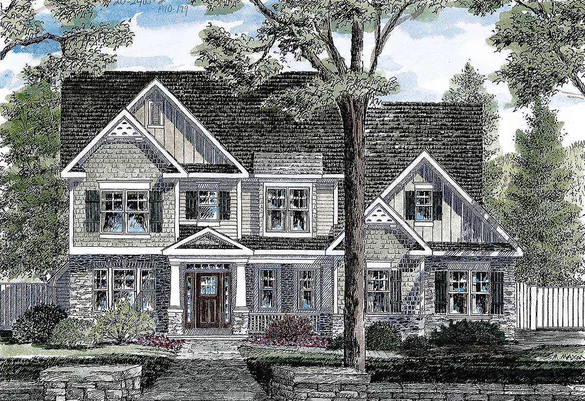 Four bedrooms and a bonus room 19608jf architectural for 4 bedroom with bonus room house plans