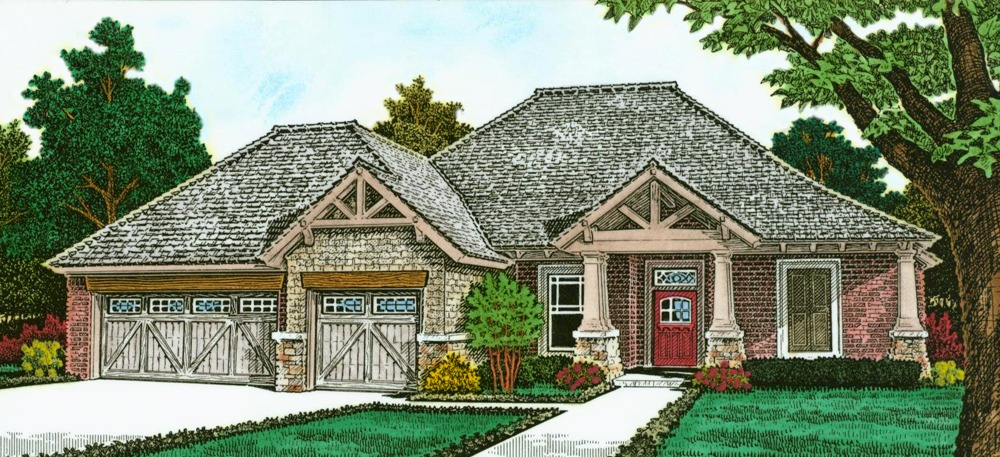 Exclusive one story european house plan 48530fm One story european house plans
