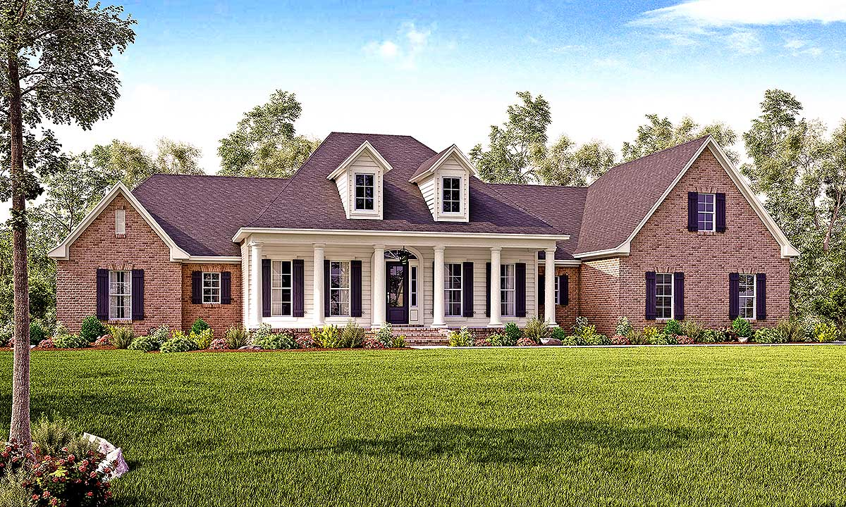 Flexible southern charm home plan 51733hz for Southern charm house plans