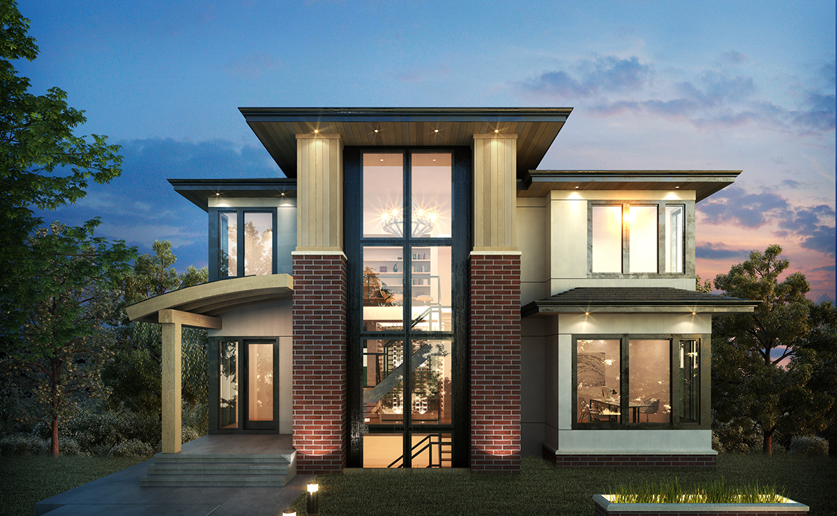 Exclusive 3 level modern home plan 64100cal for 3 level house