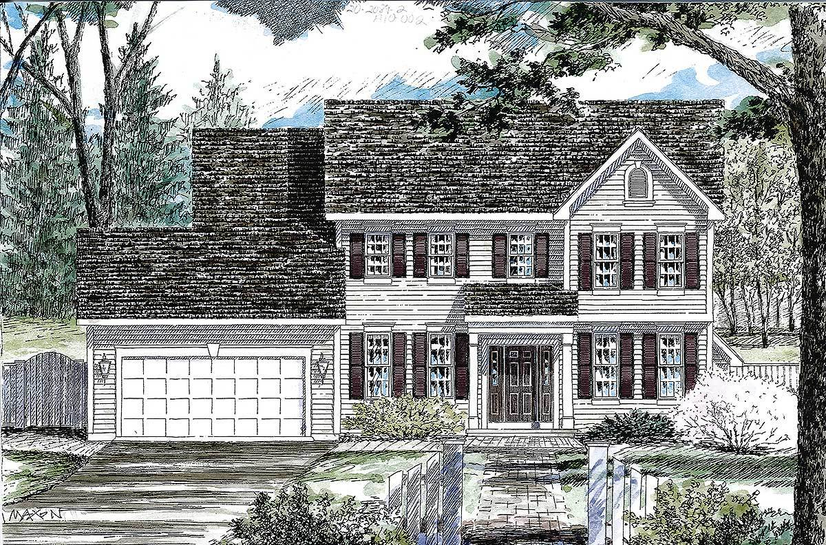 Classic colonial house plan 19612jf architectural for Large colonial house plans