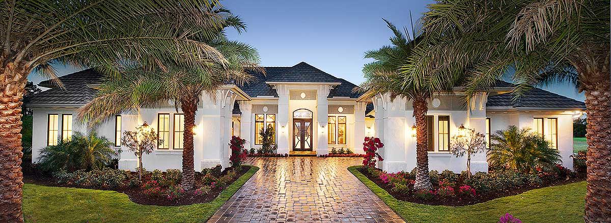 Super-Luxurious Mediterranean House Plan - 66359WE ...