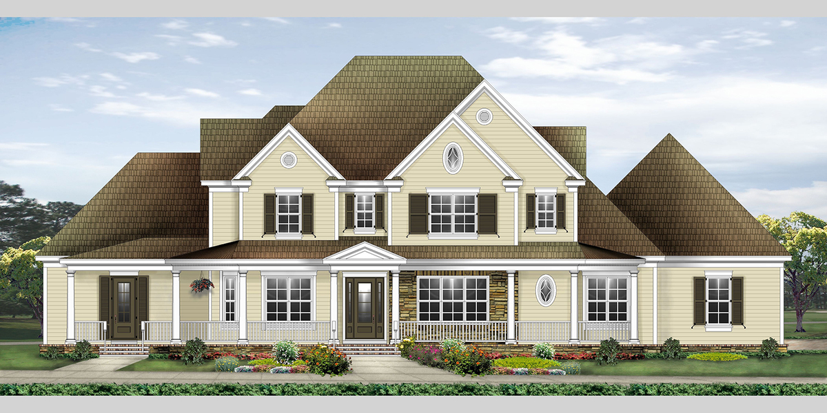 Spacious Farmhouse House Plan 58597sv Architectural