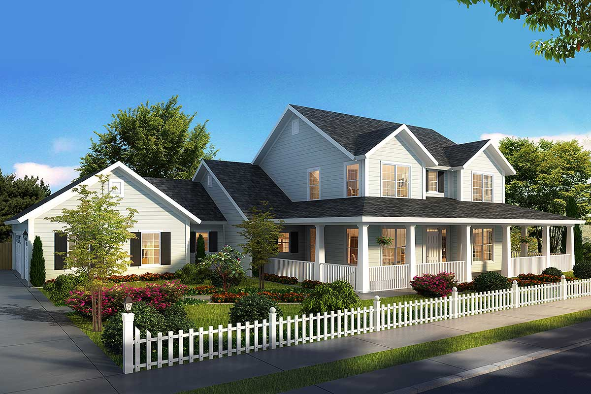 Expanded Farmhouse Plan With 3 Or 4 Beds 52269wm